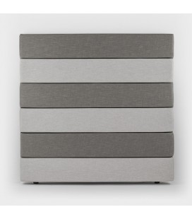 Drew Headboard - Grey and Taupe