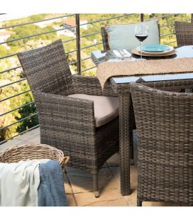 BHR-2025-DC-BR - Durante Patio Dining Chair - Brown -