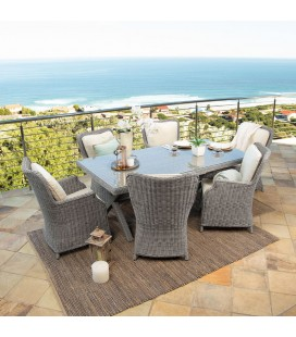 Geneva Patio Dining Set - 6 Seater