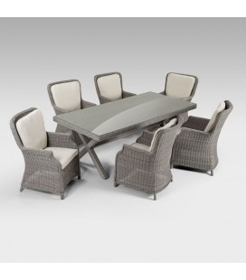 Geneva 6 Seater Patio Dining Furniture Set