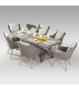 Marseille Patio Dining Set - 6 Seater