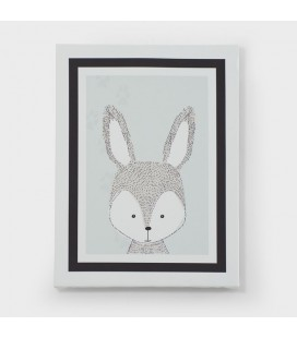 CAN-KID-001-A - Kids Wall Art - Jungle Collection Bunny Canvas -