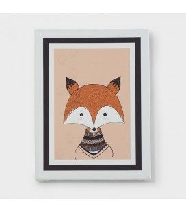CAN-KID-001-B - Kids Wall Art - Jungle Collection Fox Canvas -