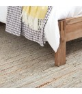 Mixed Leather Jute Rug - Champagne