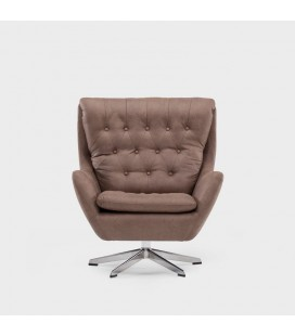Lincoln Swivel Armchair - Aged Brown