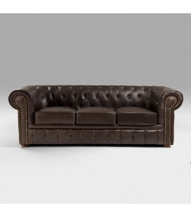 Chesterfield Leather Sofa - 3 Seater