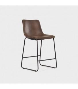 Harvey Counter Leather Bar Chair
