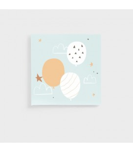 Nursery Collection three balloons Canvas