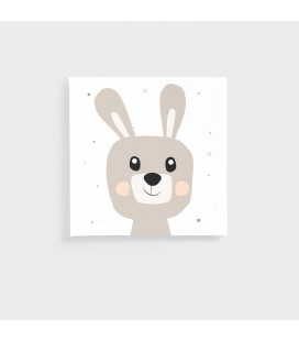 CAN-KID-003-F - Kids Wall Art - Nursery Collection Bunny Canvas -