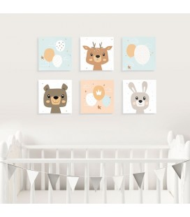 Nursery Collection Canvas Set of 6