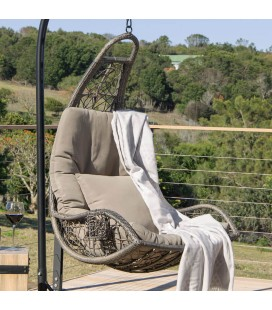 HJ-27-BR - Jasper Hanging Chair Brown -