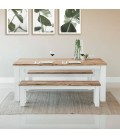 Waldorf Dining Table with Waldorf Dining Benches -