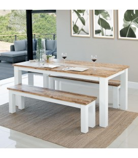 Waldorf Dining Table + 2 x Waldorf Benches