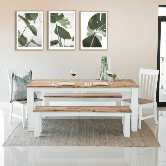 half off 5e172 201c6 Waldorf Dining Table + 2 x Waldorf Benches + 2 x Waldorf Dining Chairs