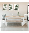Waldorf Dining Table + 2 x Waldorf Benches + 2 x Waldorf Dining Chairs