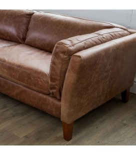 Gabriel Leather Sofa - Tan
