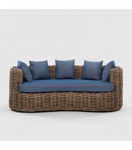 KM-S30158 - Manfred Wicker Patio Couch -