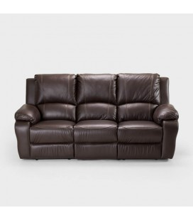 Kingsley PU Leather 3-Seater Recliner