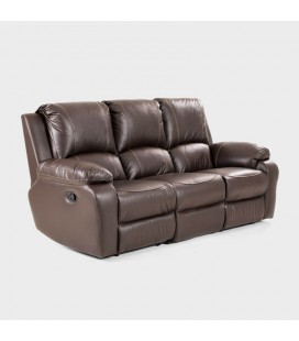 Kingsley 3-Action PU Leather Three Seater