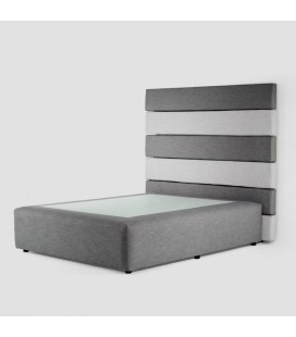 DREW-HB-SET-F7F3-QXL - Drew Bed - Grey and Taupe - Queen XL -