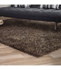 Clara Polyester Shaggy Carpet - Coffee