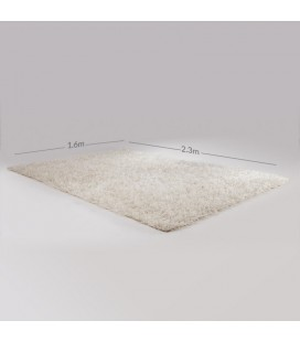Polyester Shaggy Carpet - White -