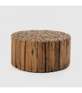 FUR-60280-ROL - Lyra Teakroot Coffee Table - Round -