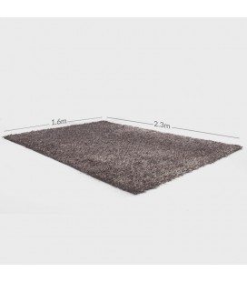 C3 - Clara Polyester Shaggy Carpet - Light Brown -