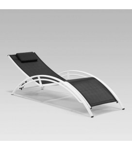 770501AM-BKx2 - Tahiti Pool Lounger - Black - Set of 2 -