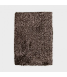 SS12-5 - Sasona Poly Shag Rug - Dark Brown - Gold -