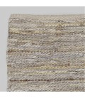 T-MIXLEA1 - Mixed Leather Jute Rug - Champagne -