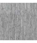 T-MIXLEA3 - Mixed Leather Jute Rug - Grey/Silver -