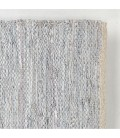 Mixed Leather Jute Rug - Grey/Silver