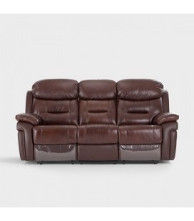 Reece Recliner - 3 Seater - Chocolate Brown