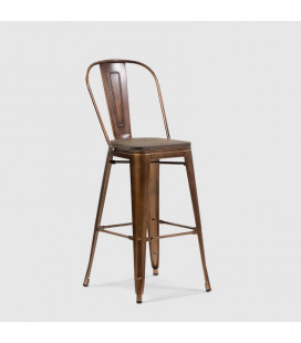 Conrad Metal Bar Chair - Copper
