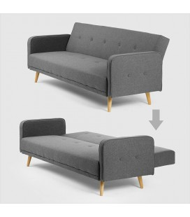 Lorenzo 3-Seater Sleeper Sofa - Grey