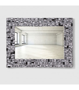FUR-16152-BW120 - Paper Art Framed Mirror - Black & White -