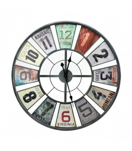 HLZ1B1218 - Multi-Colour Iron Wall Clock -