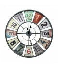 Multi-Colour Iron Wall Clock
