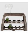23 Bottle Wooden Wine Rack - Vintage Grey -