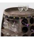 MC0416H-VGR - 42 Bottle Wine Rack Barrel - Vintage Grey -