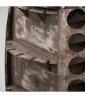 42 Bottle Wine Rack Barrel - Vintage Grey