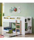 Kids Double Bunk Bed - White