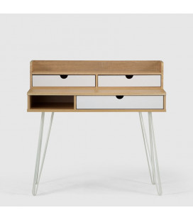 PE-ST-S1609 - Jerry Kids Desk - White & Natural -