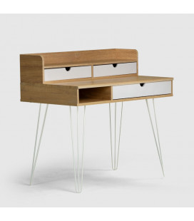 Jerry Kids Desk - White & Natural -