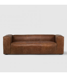 PJL-PJS24003-T - Andreas Leather Couch - Tan -