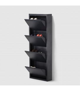 Gable Steel Shoe Cabinet - Antique Black