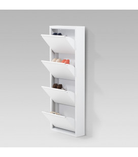 SY-FLS-9004-WH - Gable Steel Shoe Cabinet - White -