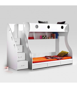 Storage Bunk Bed White | Kids Bunk Beds for Sale -