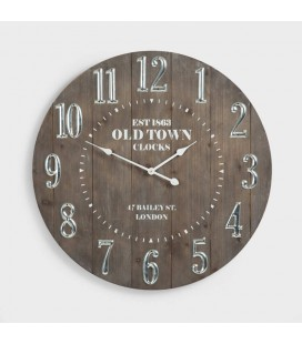 Old Town Wooden Wall Clock -